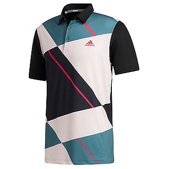 adidas Golf Mens 2020 Ultimate365 Jockey Colourblock Polo Shirt