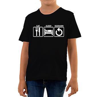 Reality glitch eat sleep respawn kids t-shirt