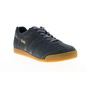 Gola Harrier Suede  Mens Blue Lace Up Lifestyle Sneakers Shoes