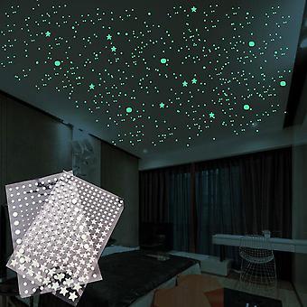 3d Bubble Stars Dots Wall Sticker 202 Pcs