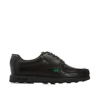 Boy''s Kickers Junior Fragma Lace Shoe in Black