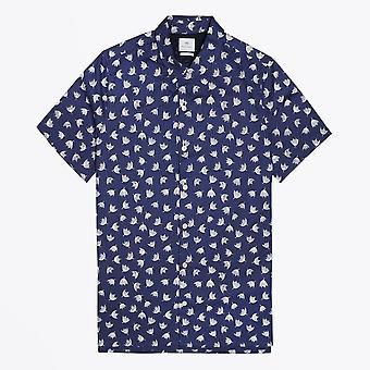 PS Paul Smith  - Cotton Dandelion Print Shirt - Navy