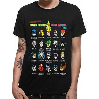 Justice League Unisex Adults Superhero Issues T-Shirt