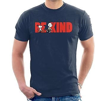 Peanuts Snoopy Charlie Brown Skateboard Be Kind Men's T-Shirt