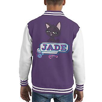 Littlest Pet Shop Jade Fish Bone Kid's Varsity Jacket