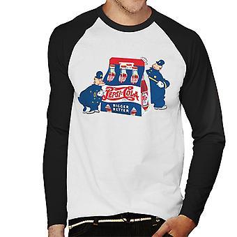 Pepsi Cola Cops Retro Herren Baseball Langarm T-Shirt