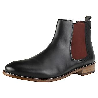 London Brogues Gatsby Mens Chelsea Boots in Black