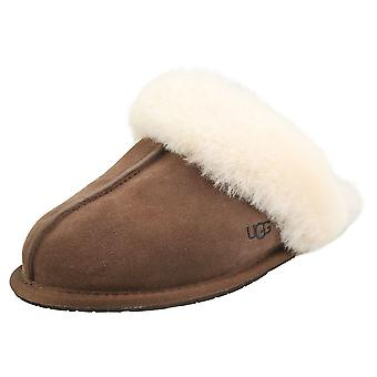 UGG Scuffette 2 Womens Slippers Shoes in Espresso