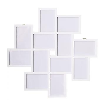 Rebecca Furniture Mosaic Photo Photo 12 Images Mdf White 63x63x1.2