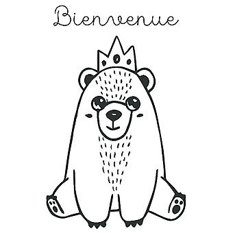 Aladine Rubber Stamp Bienvenue Bear