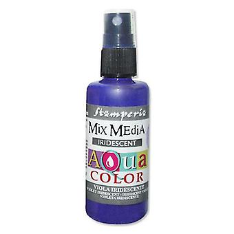 Stamperia Aquacolor Spray 60ml Iridescent Violet