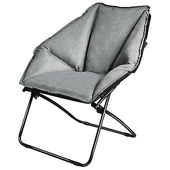 Folding Camping Chair Padded Potable Garden Patio Chair In/Outdoor Moon Chair