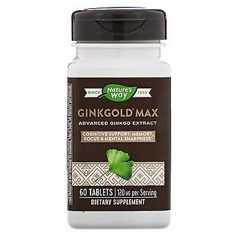 Nature-apos;s Way, Ginkgold Max, 120 mg, 60 comprimés