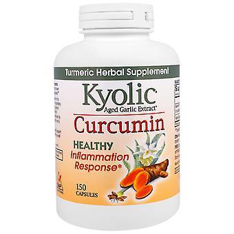 Kyolic, Aged Garlic Extract, Inflammation Response, Curcumin, 150 Capsules