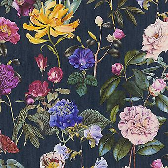 Jette Flowers Wallpaper Navy AS Creation AS373364