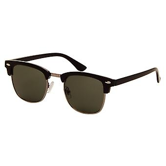 Sunglasses Unisex black with green lens (AZ-2190)