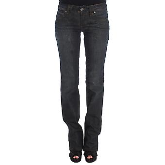 Galliano Blue Wash Cotton Blend Slim Fit Bootcut Jeans SIG30194-6