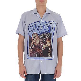 Etro 1k26571270200 Männer's hellblau Baumwollshirt