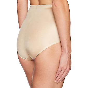 Arabella Women's Shine Microfiber Brief avec Spacer, Sand, Medium
