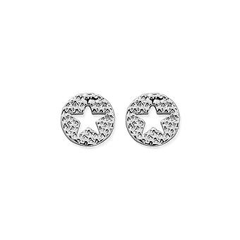 ChloBo Sparkle Star In Circle Pendientes SEST3072