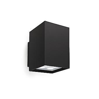 Leds-C4 Afrodita - LED al aire libre arriba y abajo luz de pared negro 10cm 1690lm 3000K IP55