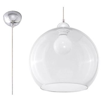 Sollux BALL - 1 Lys Glas Dome Loft Vedhæng Transparent, Chrome, E27