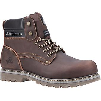 Amblers Men's Dorking Casual Lace Up Boot Brown 19515