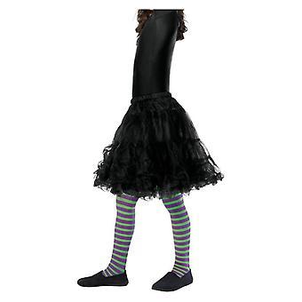 Κορίτσια Μωβ & Πράσινο Wicked Μάγισσα Καλσόν Ηλικία 6-12