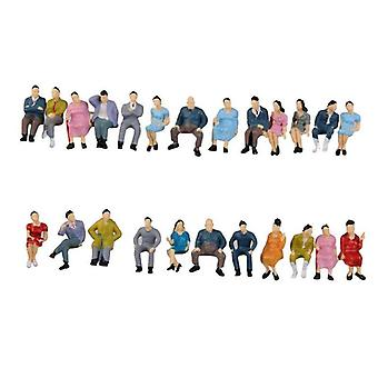 Painted Model People Figures - Passerby Train Passengers