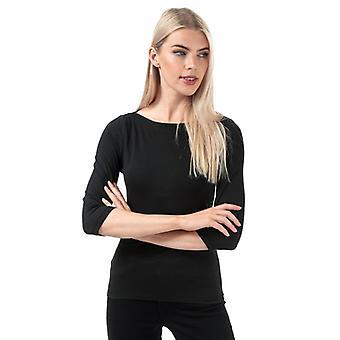 Camiseta de manga de 3 cuartos para mujer Veroa Panda en negro