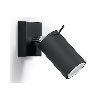Seinävalaisin Rengas Musta