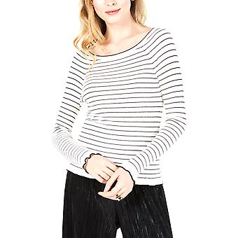 Maison Jules | Striped Off-the-Shoulder Sweater
