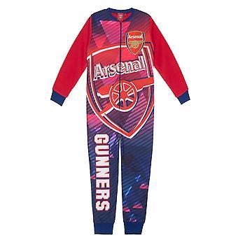 Arsenal FC virallinen jalkapallo lahja pojat lapset fleece all-in-one pyjamat