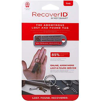 Keysmart Recover ID Mini Anonymous Lost & Found Tag - Acier inoxydable