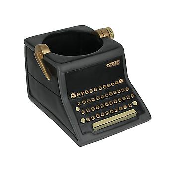 Allen Designs Baby Vintage Writer Indoor / Outdoor Decorative Black Typewriter Mini-Plant Pot