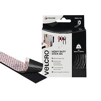 VELCRO Brand VELCRO Brand Heavy-Duty Stick On Tape 50mm x 1m Black VEL60241