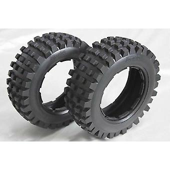 Rear Knobby Tires Baja Badland Off Road Baja Tyres - Rear For Scale