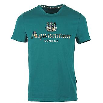 Aquascutum Signature Check Logo Green T-Shirt