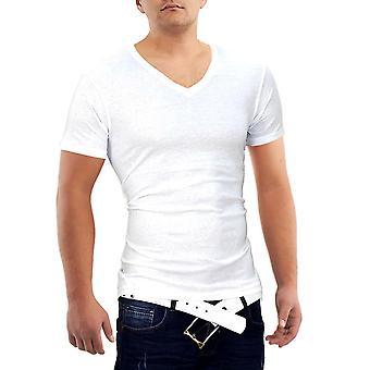 Men's all-you-can-do T-Shirt V-Neck Polo Sport Club Wear shirt Slim Basic