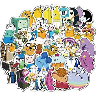 Cartoon Adventure Time Waterproof Stickers Skateboard, Suitcase Guitar,