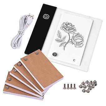 300 Blatt Flip Book Kit mit Mini Light Pad Led Lightbox Tablet Design mit