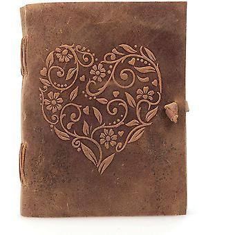 Genuine Leather Journal for Women, Handmade A5 Leather Bound Notebook