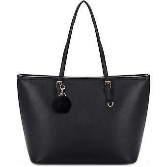 Black Tote Bag, COOFIT Handbags Black Handbags for Ladies Black Handbags