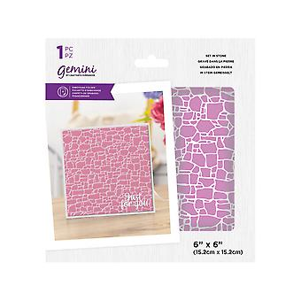 Gemini Set in Stone 6x6 Inch Embossing Folder