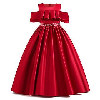 Spitze Blütenblatt Kommunion Geburtstag lange Bankett Pageant Kleider für Hochzeitsfeier