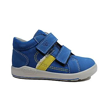 Ricosta Laif 2420100-151 Jeans Nubuck Leather Boys Rip Tape Ankle Boots