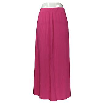 BROOKE SHIELDS Skirt Timeless Knit Pull On Maxi Pink A352151
