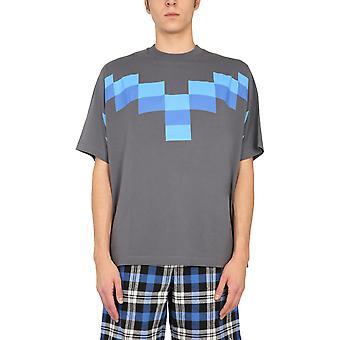 Marcelo Burlon Cmaa054r21jer0034941 Men's Grey Cotton T-shirt
