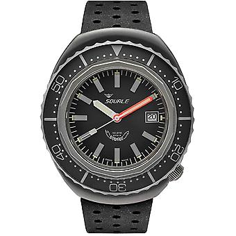 Squale 2002.BR.G.G.NT 1000 Meter Swiss Automatic Dive Wristwatch Rubber