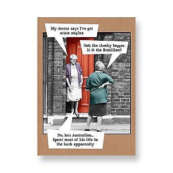 Pigment Riff Raff - Two Ladies On Doorstep Angina - General Card Rw128a